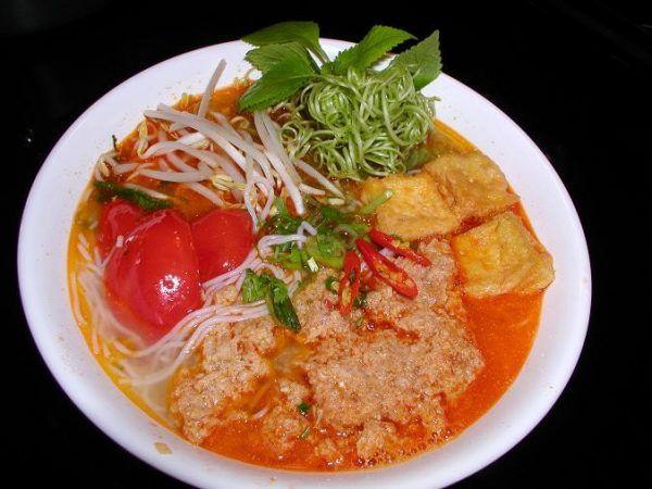 Bún riêucua Nha Trang