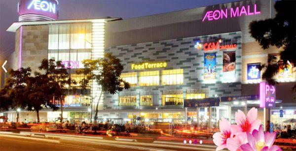 khu trung tâm thương mại Aeon Mall Tân Phú
